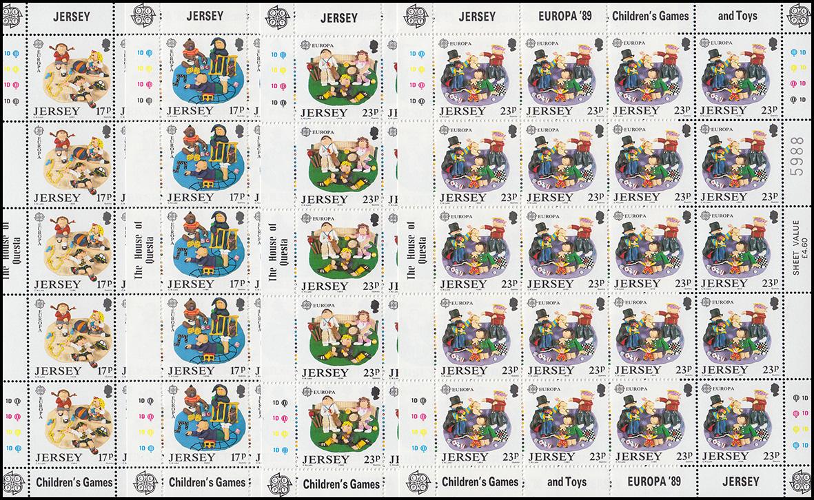 Jersey 576-479 Europa Kinderspiele und Kinderspielzeug, Kleinbogen-Satz **