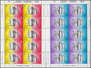 Jersey 192-195C Europa Postgeschichte - Zähnung C, Kleinbogen-Satz **