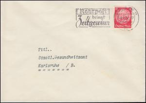 Firmenlochung Symbol 1W ? auf Hindenburg 12 Pf als EF auf Brief BERLIN 6.10.37