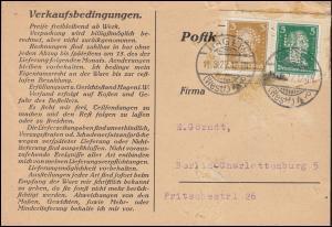 Firmenlochung LNN auf Goethe/Schiller-Marken auf Postkarte HAGEN/WESTF. 11.8.27