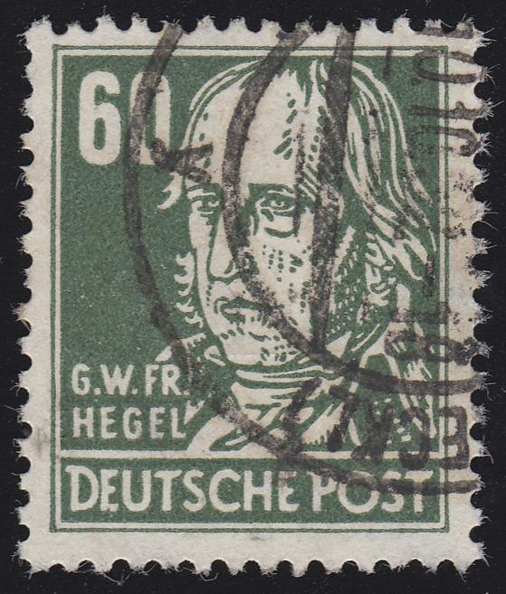 338za XI Georg Hegel 60 Pf Wz.2 XI Bedarfsstempel O geprüft