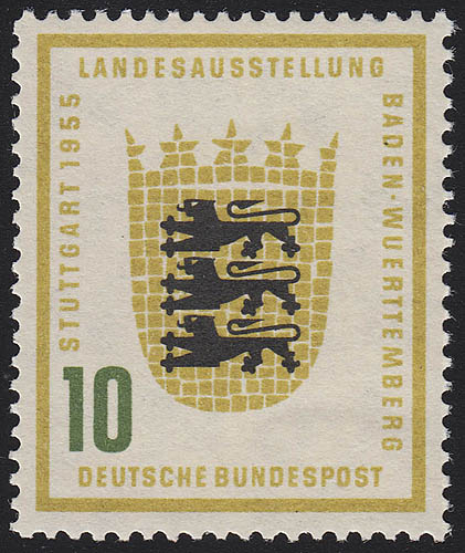 213Vc Baden-Württemberg 10 Pf ** postfrisch