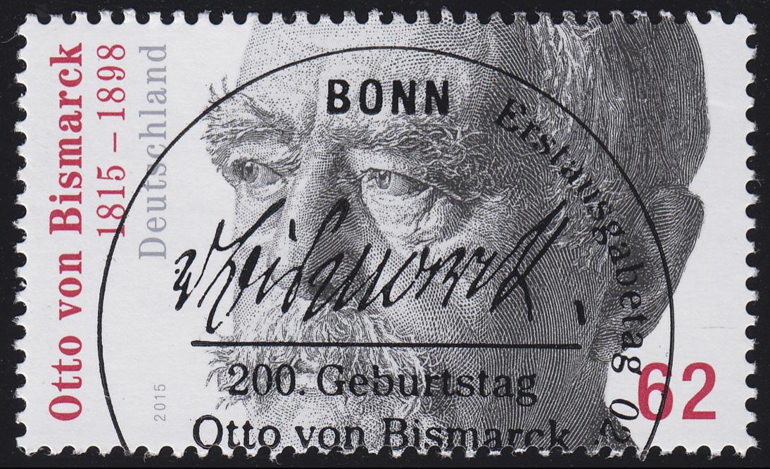 3145 Otto von Bismarck aus Rolle, GERADE Nummer, ESSt Bonn