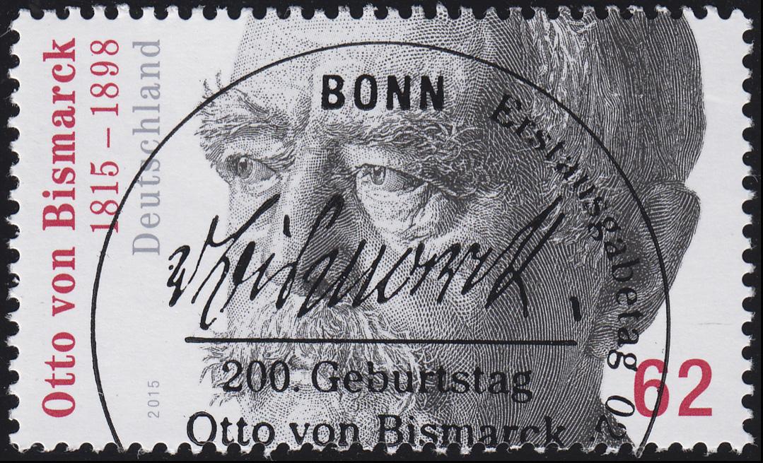 3145 Otto von Bismarck aus Rolle, UNGERADE Nummer, ESSt Bonn