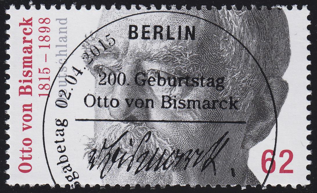 3145 Otto von Bismarck aus Rolle, GERADE Nummer, ESSt Berlin