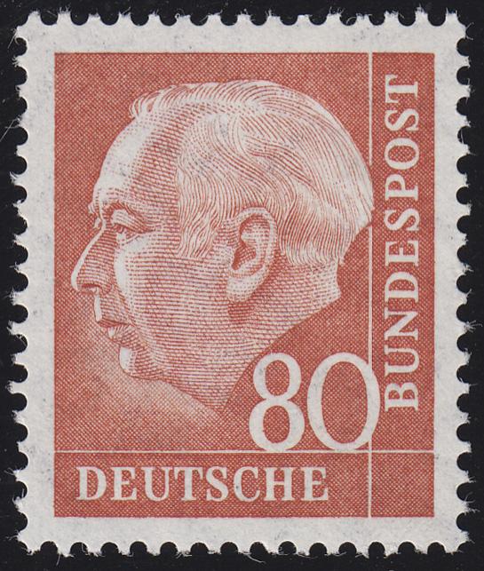 264xv Theodor Heuss 80 Pf ** postfrisch