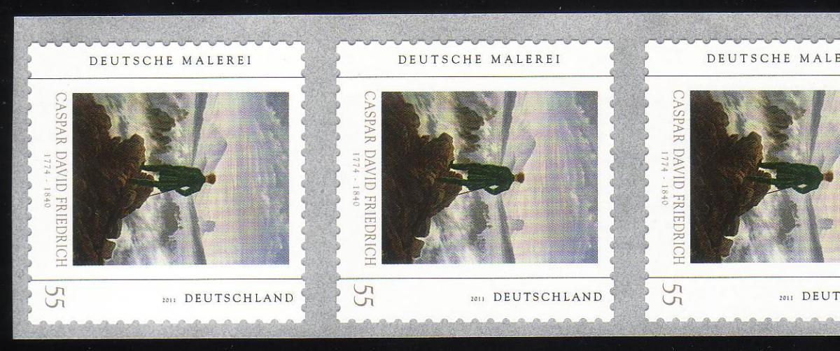 2869 C.D. Friedrich sk 11er-Streifen Rollenende 10-5 ** postfrisch