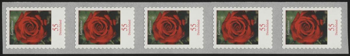 2675 Blumen 55 Cent sk 5er-Streifen aus 500-Rolle, UNGERADE Nummer **