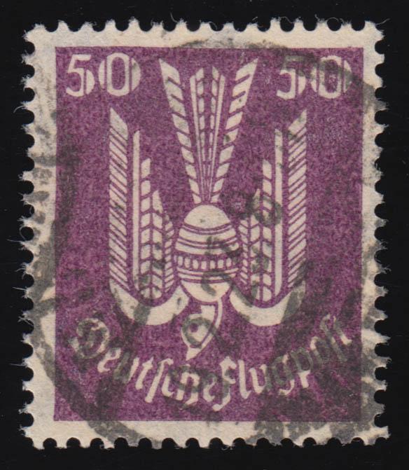 212 Flugpostmarken Holztaube 50 Pf gestempelt O geprüft