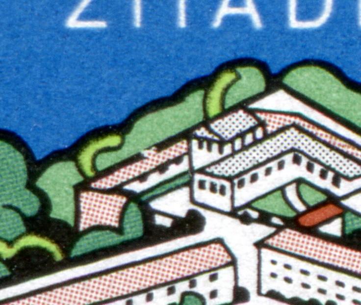 1739I Spandau mit PLF I hinten gebrochener Dachfirst, Feld 50, ** postfrisch