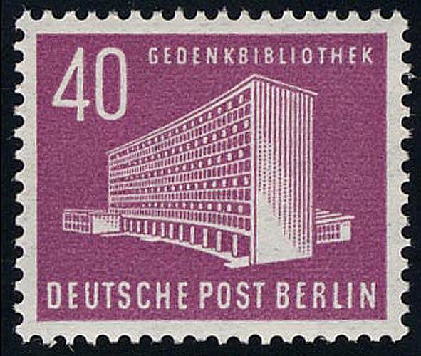 122 Berliner Bauten 40 Pf, Amerika Gedenkbibliothek ** postfrisch