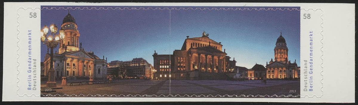 2987-2988 Gendarmenmarkt, SELBSTKLEBEND aus Folienblatt 26, **