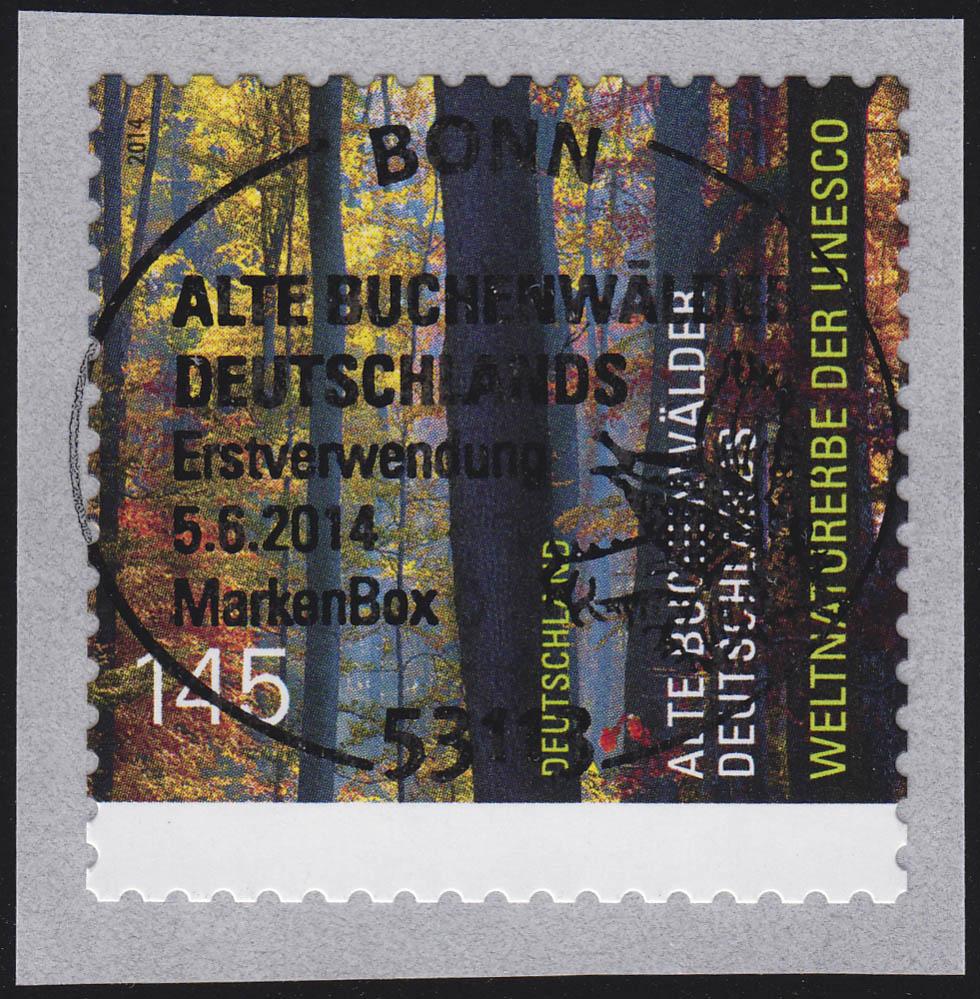 3087 UNESCO Buchenwälder aus 500-Rolle UNGERADE Nummer, EV-O Bonn