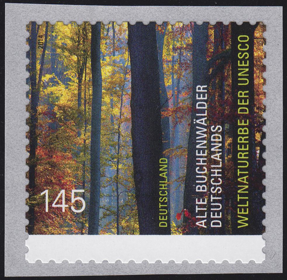 3087 UNESCO Buchenwälder aus 500-Rolle GERADE Nummer **