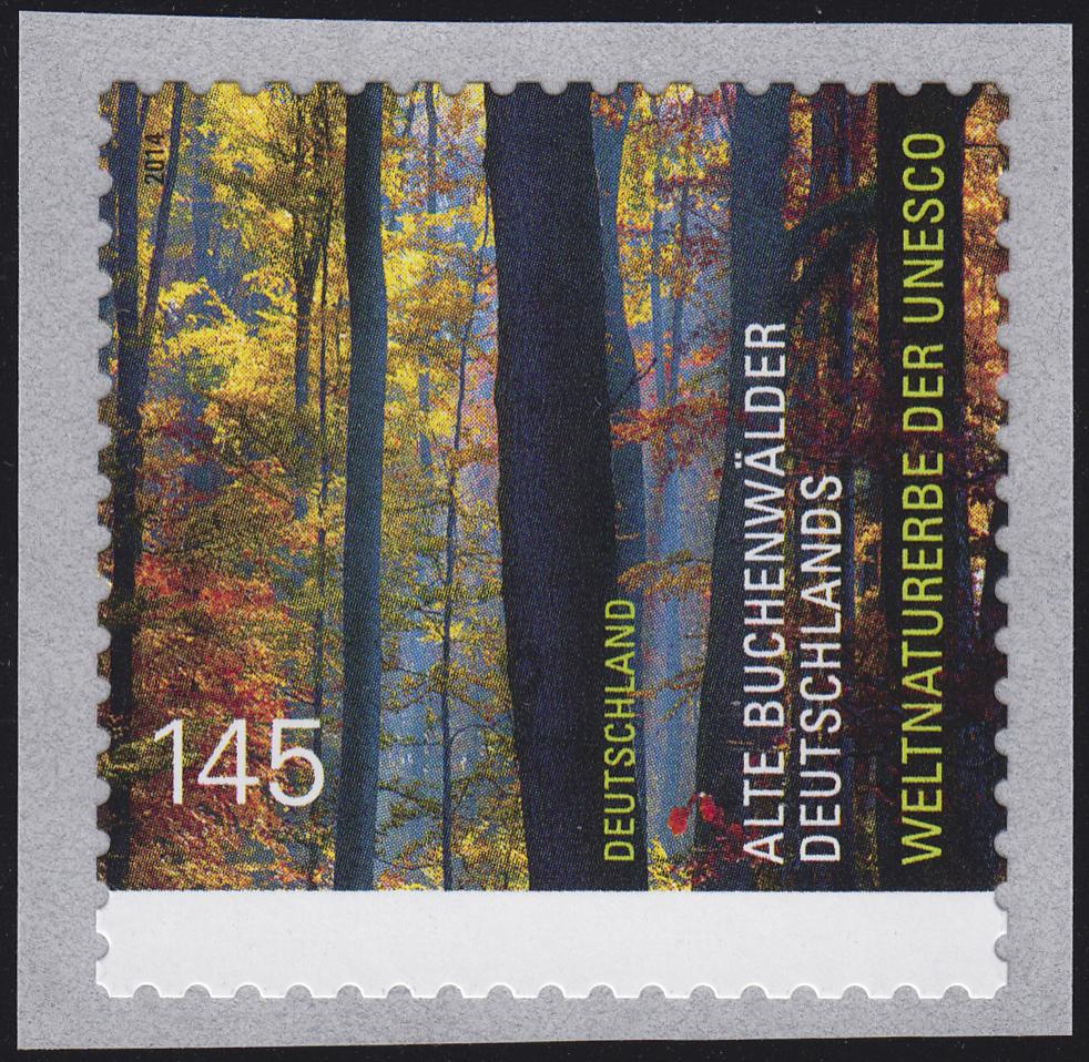 3087 UNESCO Buchenwälder aus 100-Rolle UNGERADE Nummer **
