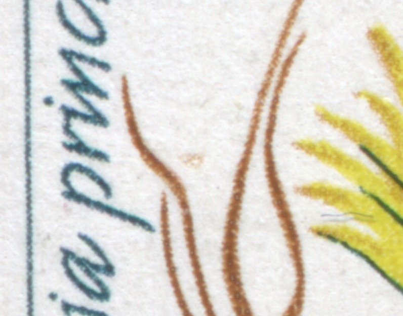 2804 Kakteen 20 Pf. OR-Paar mit PLF brauner Fleck, Feld 6, ESSt Berlin