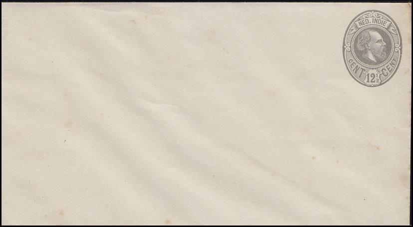 Niederländ.-Indien Umschlag König Wilhelm 12 1/2 Cent Oval grau ungebraucht **