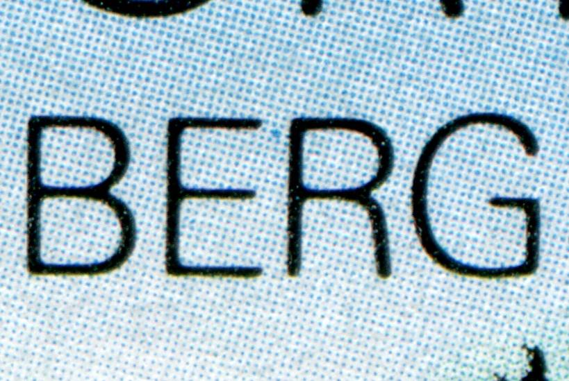 Block 23 Bob-WM Altenberg mit PLF blauer Punkt zwischen ER, gestempelt