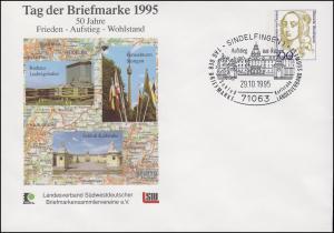 PU 350 Frauen 100 Pf Tag der Briefmarke LV Südwest, SSt Sindelfingen 20.10.1995