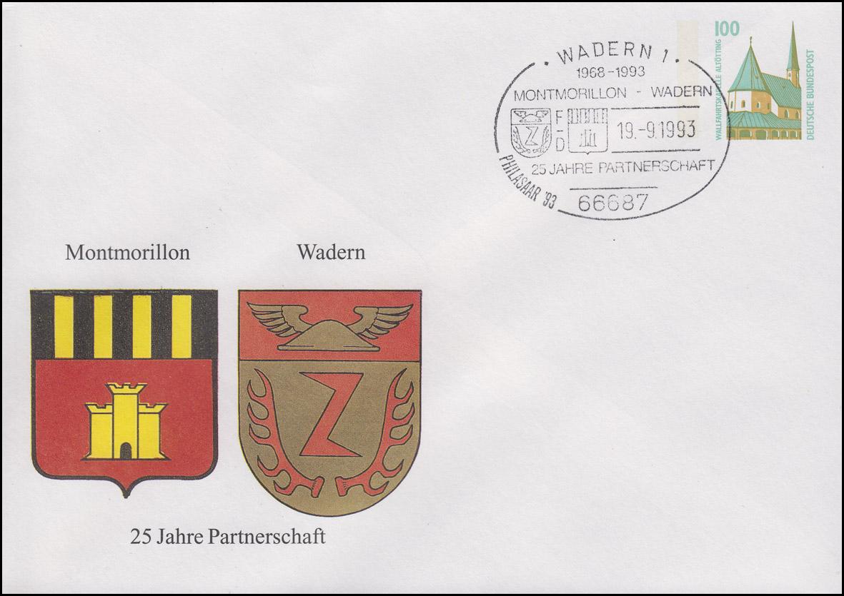 PU 290 Städtepartnerschaft Montmorillon - Wadern, SSt Wadern PHILSAAR 19.9.1993