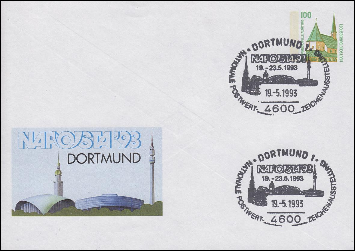 PU 290/70 SWK 100 Pf. NAPOSTA Dortmund 1993, SSt Dortmund Ausstellung 19.5.1993