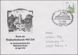 PU 290 SWK 100 Pf. 42. Landesverbandstag Hessen SSt LICH 22.4.1990 nach Mainz