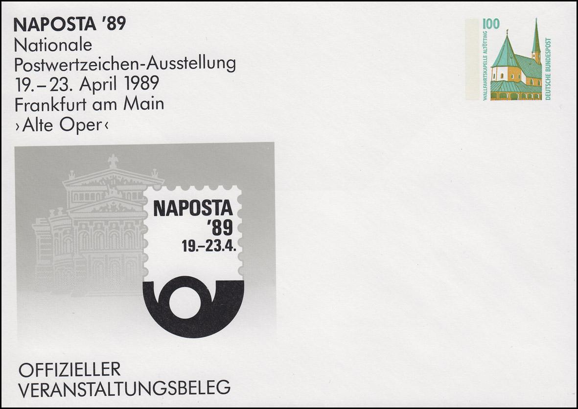 PU 290/18 SWK 100 Pf. NAPOSTA 1989 Frankfurt/Main Alte Oper, ungebraucht