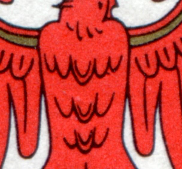 1589 Brandenburg: ER-Paar mit PLF Strich an der Brustfeder, Feld 1, gestempelt