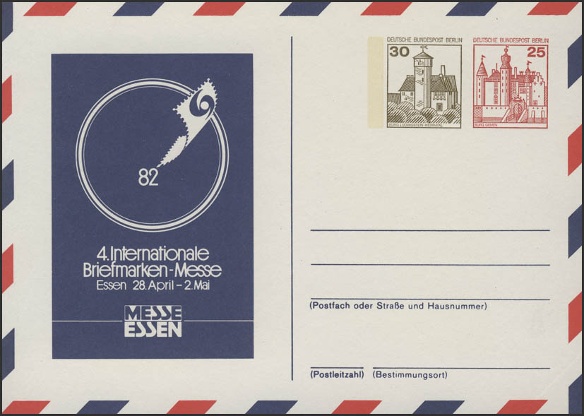 PP 95/4 4. Internationale Briefmarkenmesse Essen 1982, postfrisch