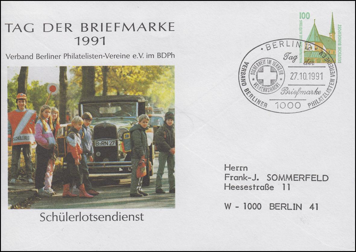 PU 290/66 Tag der Briefmarke Schülerlotsendienst SSt Berlin 27.10.91 nach Berlin