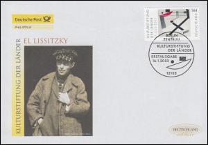 2308 Kulturstiftung der Länder: El Lissitzki, Schmuck-FDC Deutschland exklusiv