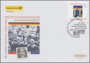 2311 Deutsch-Französische Zusammenarbeit, Schmuck-FDC Deutschland exklusiv