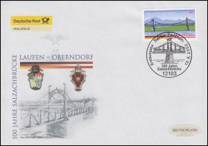 2345 Salzachbrücke Laufen-Oberndorf, Schmuck-FDC Deutschland exklusiv