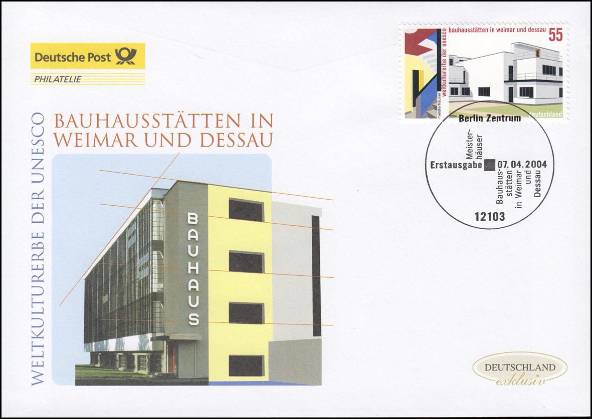 2394 Bauhausstätten in Weimar und Dessau, Schmuck-FDC Deutschland exklusiv