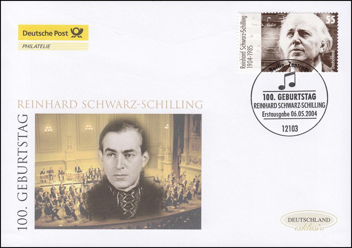 2399 Komponist Reinhard Schwarz-Schilling, Schmuck-FDC Deutschland exklusiv