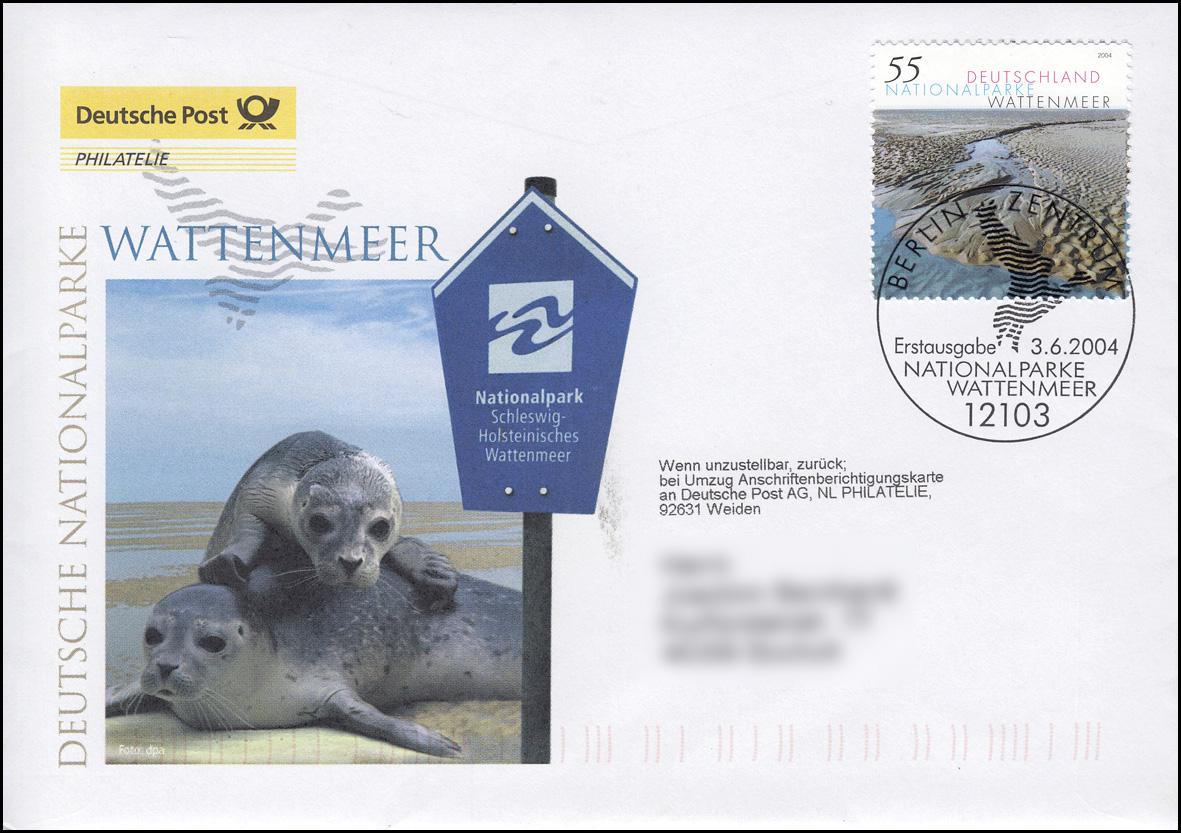2407 Nationalparks im Wattenmeer, Schmuck-FDC Deutschland exklusiv