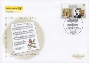 2420 Komponist Engelbert Humperdinck, Schmuck-FDC Deutschland exklusiv