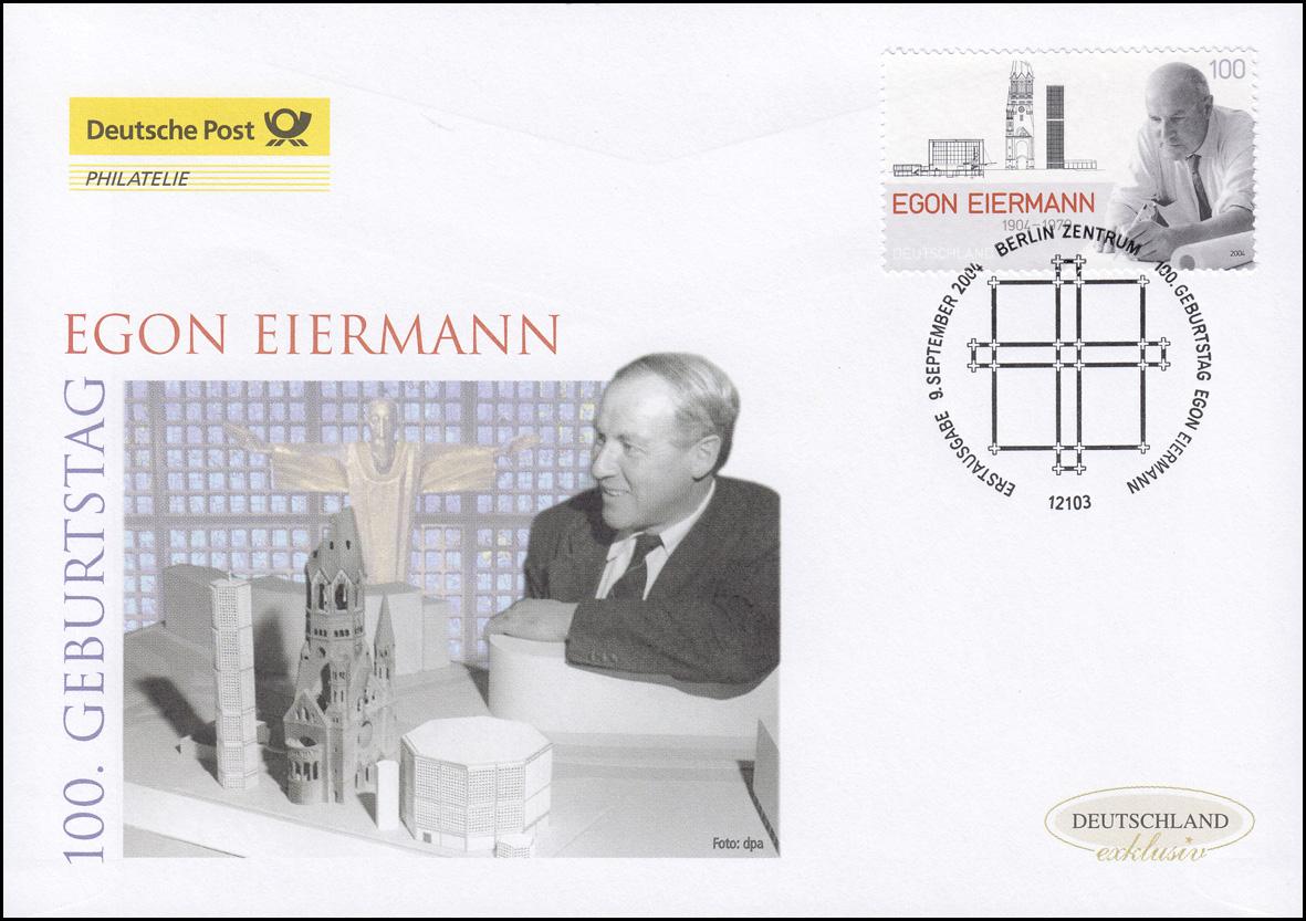2421 Architekt Egon Eiermann, Schmuck-FDC Deutschland exklusiv