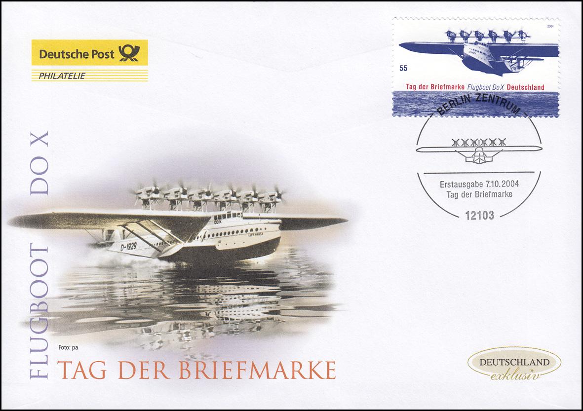 2428 Tag der Briefmarke - Flugboot Do X, Schmuck-FDC Deutschland exklusiv
