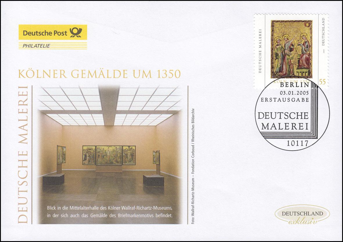 2437 Deutsche Malerei: Kölner Tafelgemälde, Schmuck-FDC Deutschland exklusiv