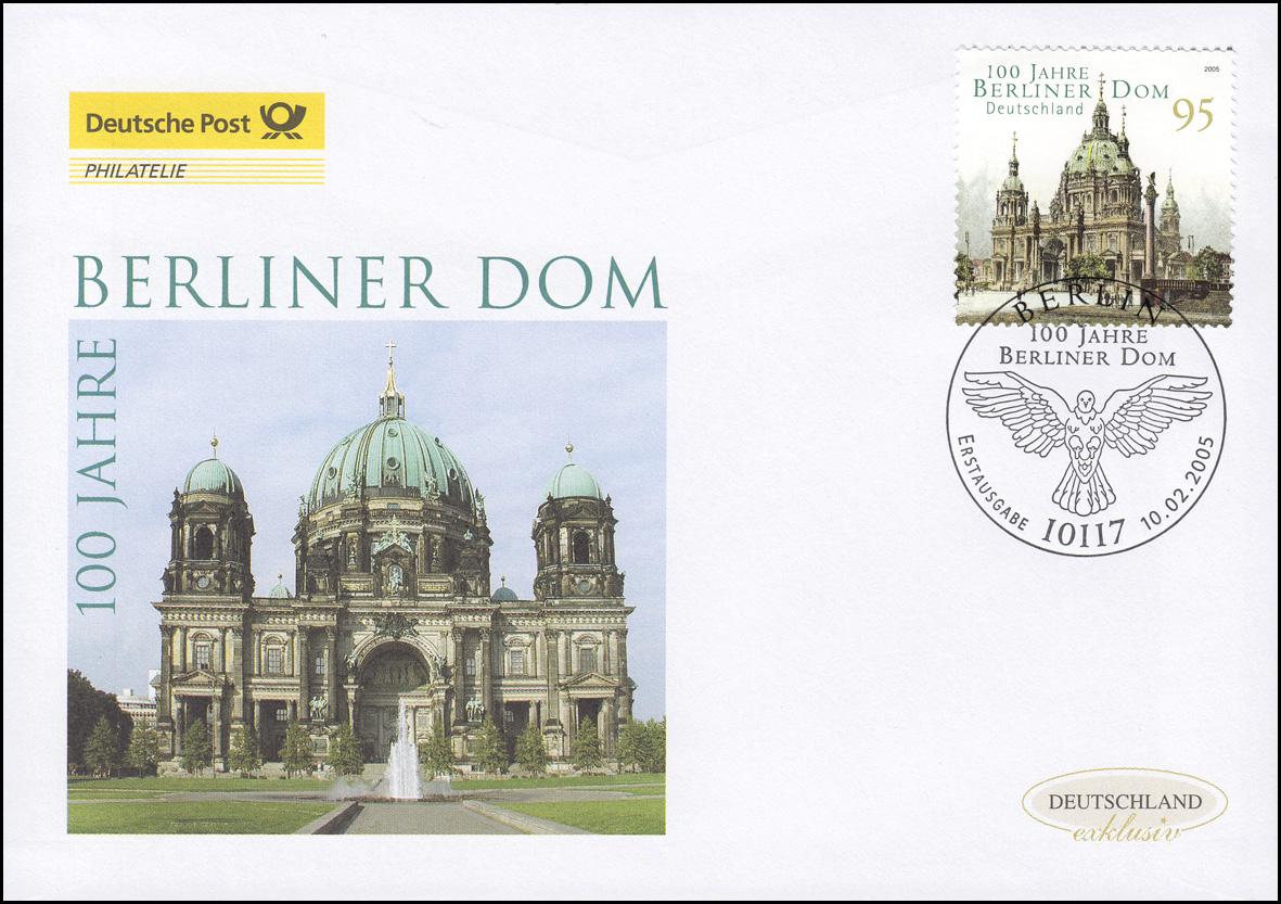 2445 Jubiläum 100 Jahre Berliner Dom, Schmuck-FDC Deutschland exklusiv