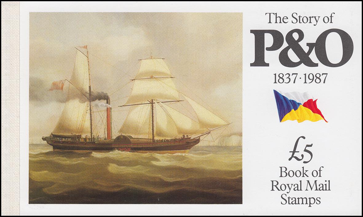 Großbritannien-Markenheftchen 80 The Story of P & O 1987 **