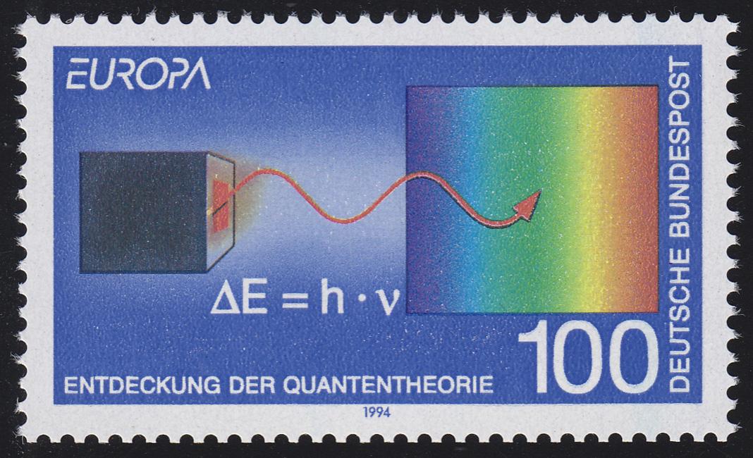 1733II Europa/CEPT 100 Pf Quantentheorie Max Planck, Type II, **