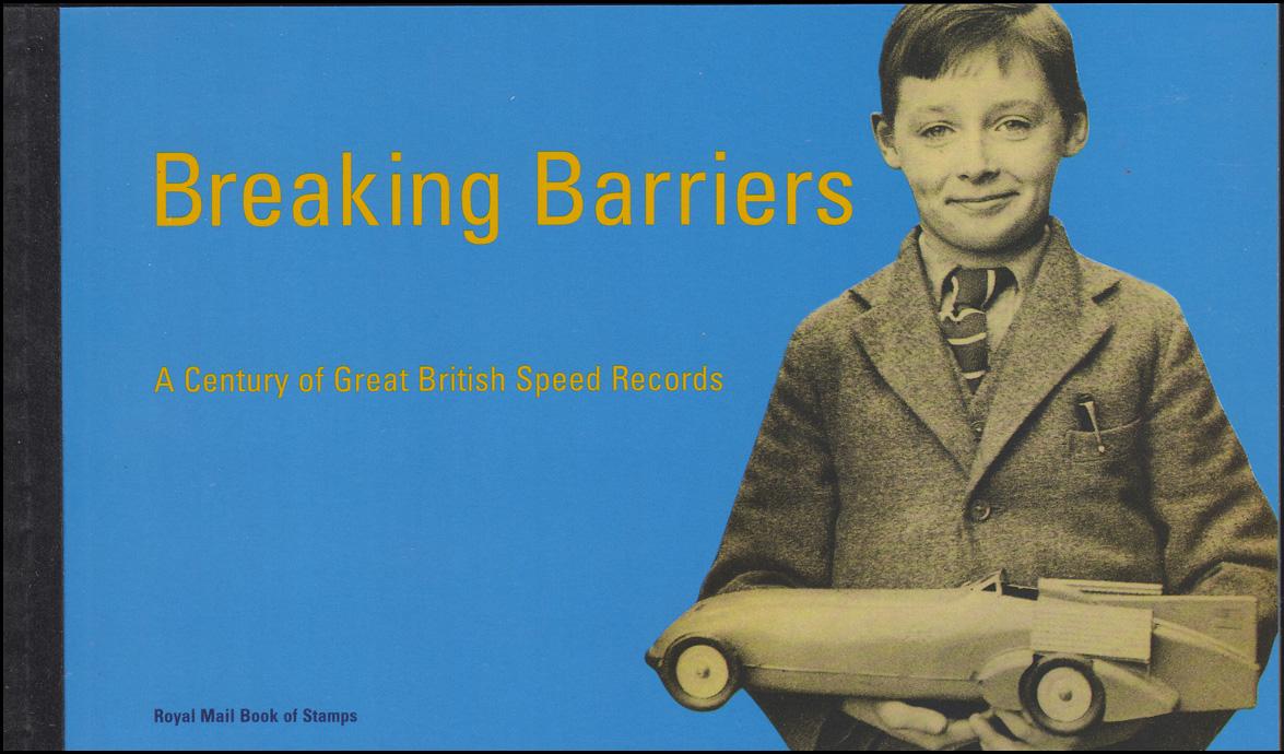 Großbritannien-Markenheftchen 120 Britische Geschwindigkeitsrekorde 1998, **