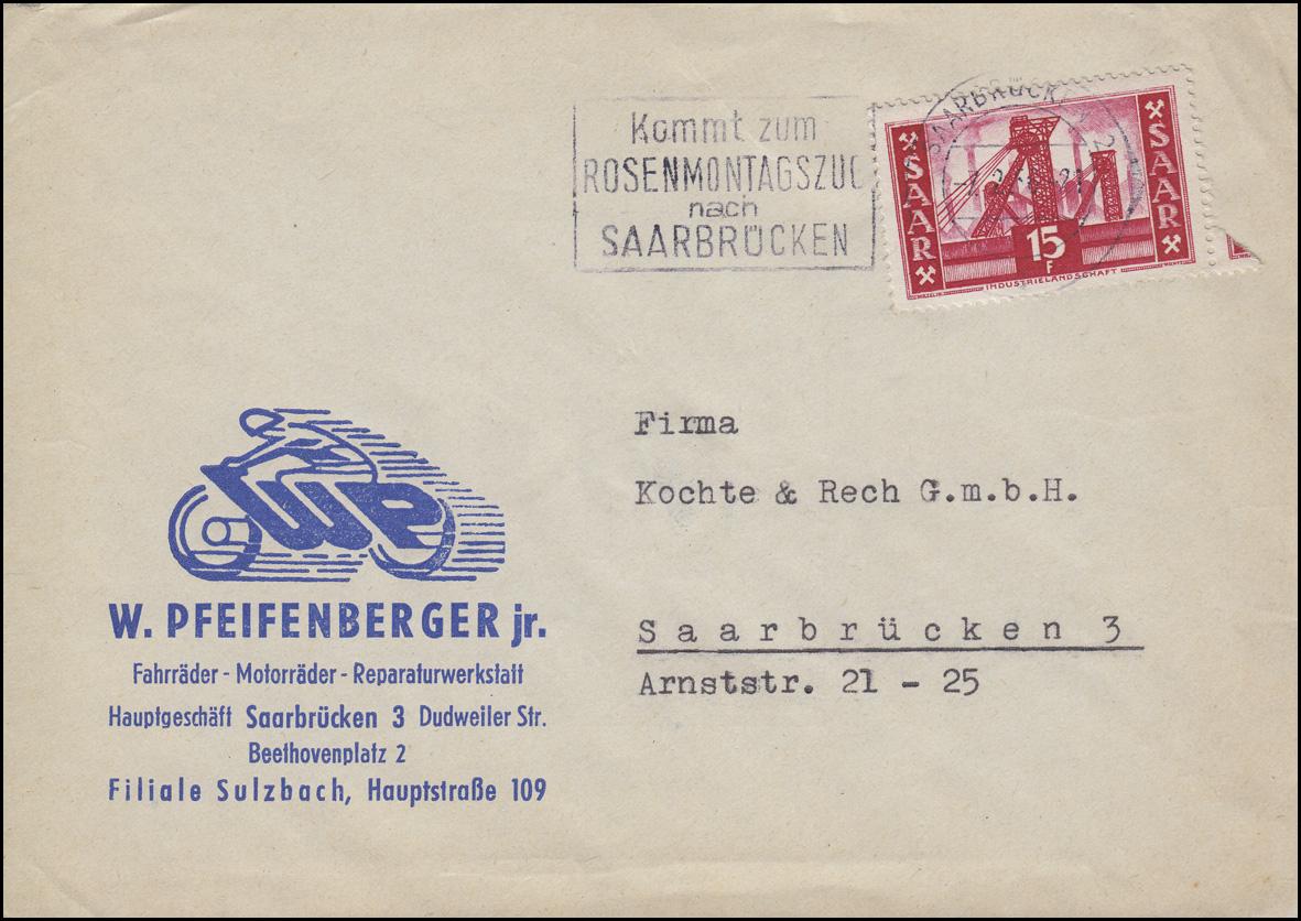 73 Dienstmarke 50 Mark als MeF auf R-Brief OLDENBURG 16.7.23 nach Duisburg