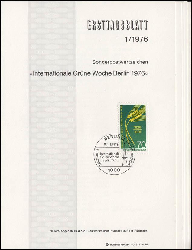 ETB Berlin Jahrgang 1976 Nr. 1 - 9 komplett