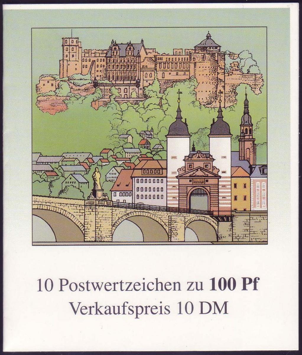 33 MH Heidelberg, HBl. unten nicht durchgezähnt, **