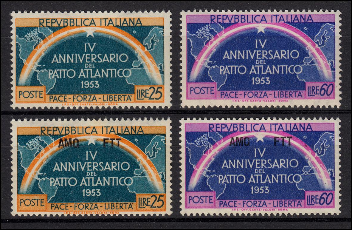 Europa NATO-Ausgaben Jahrgang 1953, 2 Ausgaben, ** postfrisch
