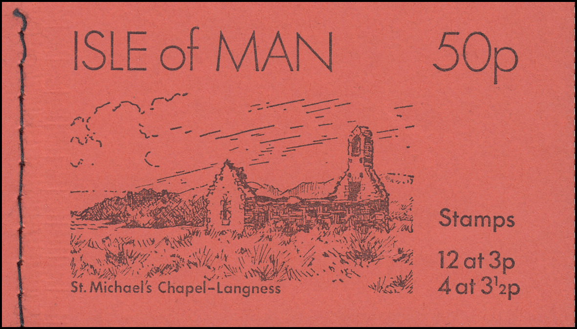 Isle of Man Markenheftchen 0-7, Ansichten 50 Pence 1974, ** postfrisch