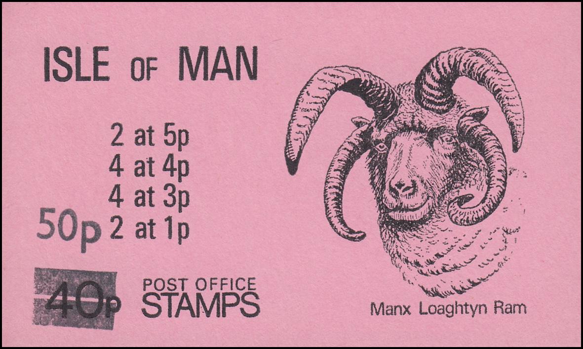 Isle of Man Markenheftchen 9, Freimarken Wappen 50p auf 40p 1985, ** postfrisch